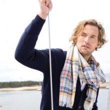 """легкий тонкорунный экстра широкий шарф  """"Гилдри""""  Guildry Merino Tartan 100% шерсть мериноса,   плотность 2"""