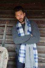 теплый широкий двусторонний  шарф (двойное полотно) Конкергуд  Сonquergood ,плотность 7