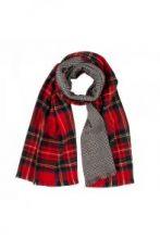 """теплый широкий двусторонний  шарф (двойное полотно) Королевский клан Стюарт и  """"Виндзорская клетка """" Dress Stewart / Glen Check,плотность 7"""