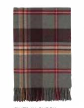 Шотландский плед, 100 % стопроцентная шерсть ягнёнка, расцветка Финтрэй Fintray Check, плотность 8