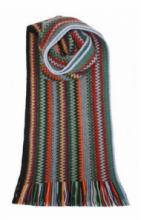 модный вязаный шотландский  шарф Zig Zag Pheasant Зигзаг Бажант, плотность 7