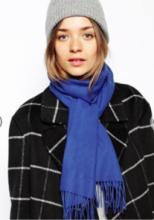 шарф 100% шерсть ягнёнка , расцветка Royal Blue Королевский Синий,  ,плотность 6
