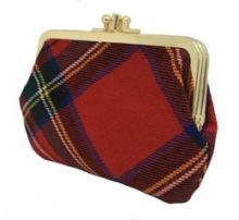 Шотландский кошелёк (клатч) тартан королевского клана Стюарт